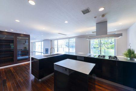 重厚感のある仕上材と明るく開放感のあるキッチン3